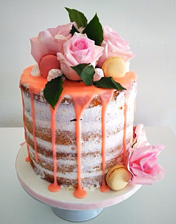 Naked Frosted Cake