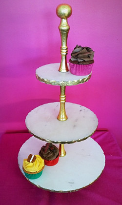 Gold and Marble Stand