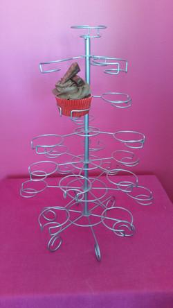 Grey Wire Cupcake Holder