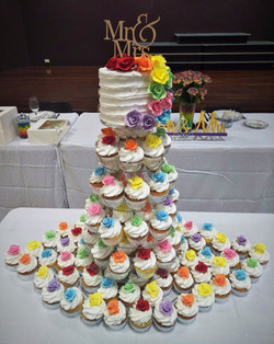 Rainbow Cake and Cupcakes