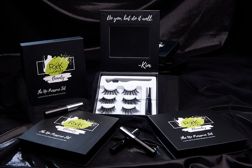 No Pressure Set- 3D Faux Mink Magnetic Lashes