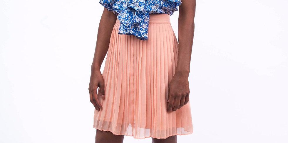 Just Peachy Pleated Skirt