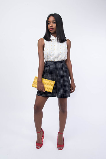 Vintage Polka Dot High Waist Short