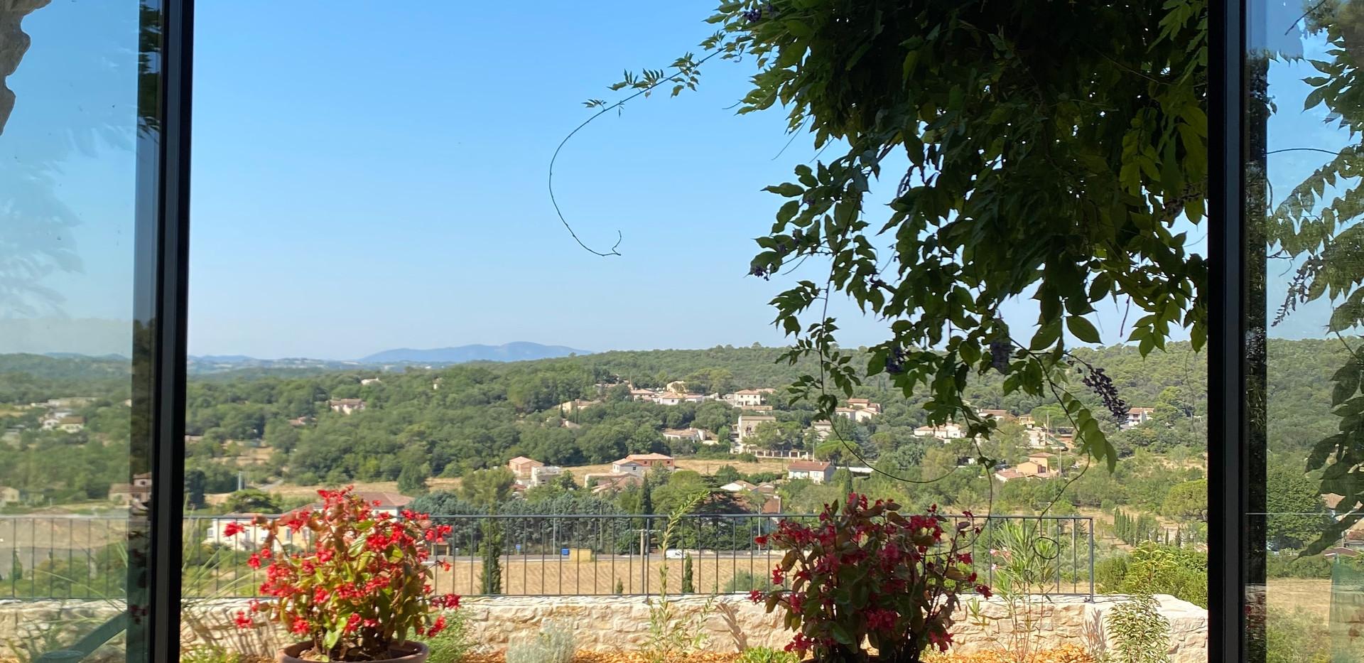 Le Gite, sa terrasse et sa vue