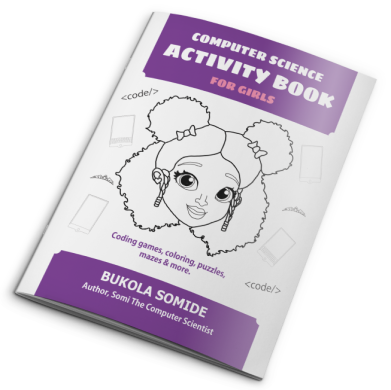 AUTOGRAPHED Computer Science Activity Book for Girls