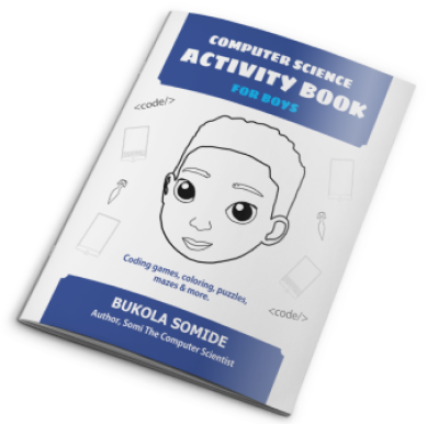 AUTOGRAPHED Computer Science Activity Book for Boys