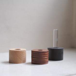 tube wood vase