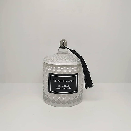 The Scent Boutique, Royal White Diamond Geo Candle