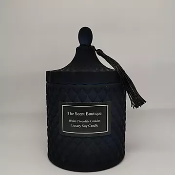 The Scent Boutique, Large Navy Diamond Geo Candle