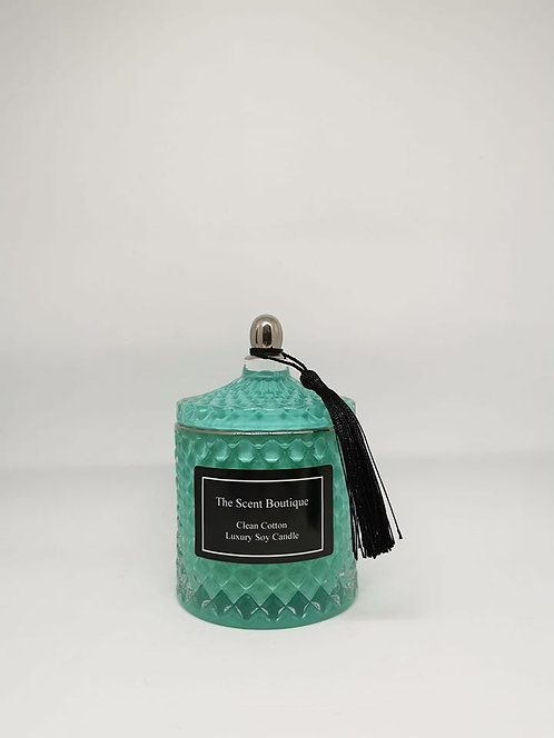 The Scent Boutique, Royal Teal Diamond Geo Candle