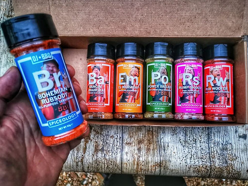DJBBQ 6 Pack Rubs and Seasonings