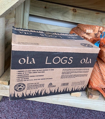 3 x Boxes of Ola Logs Rapeseed Briquettes