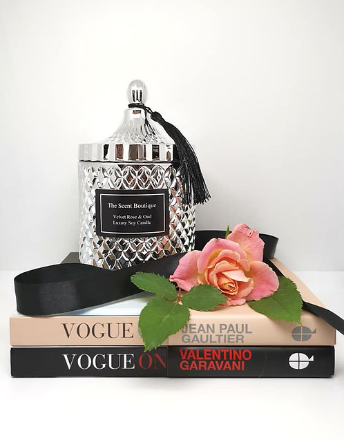 The Scent Boutique, Silver Diamond Geo Candle