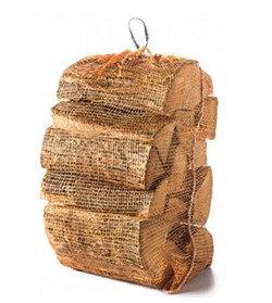 Net bag of kiln dried silver birch