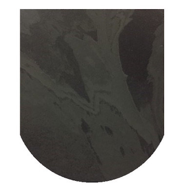 Brazilian 20mm D Shaped Honed Slate hearth