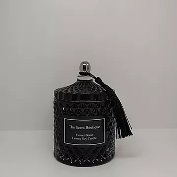 The Scent Boutique, Royal Black Diamond Geo Candle