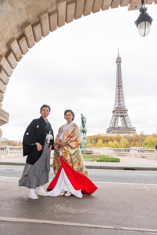 パリで和装婚