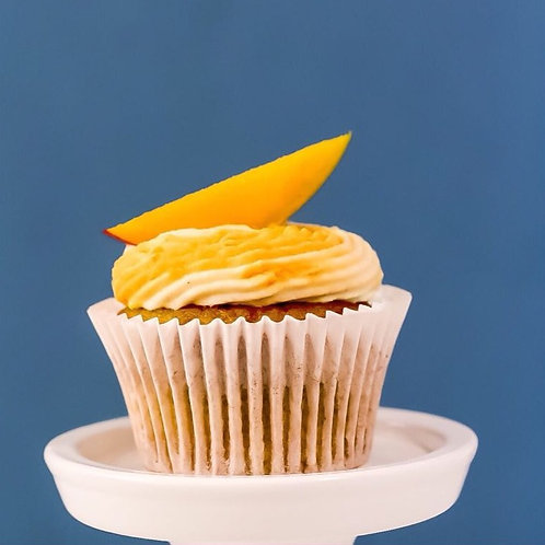 Mango Vanilla Swirl Calorie Less Cupcake - Box of 12