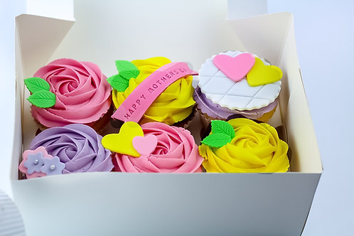 Gift Boxes - Box of 6 Deluxe Flavour Cupcakes