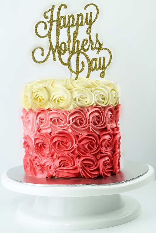With Mothers Day Only A Few Weeks Away Why Not Order One Of Our Rosette Ombre Buttercream Cakes Complete Personalised Cake Topper To