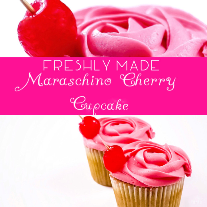 *A firm favourite!* Our Maraschino Cherry Cupcake