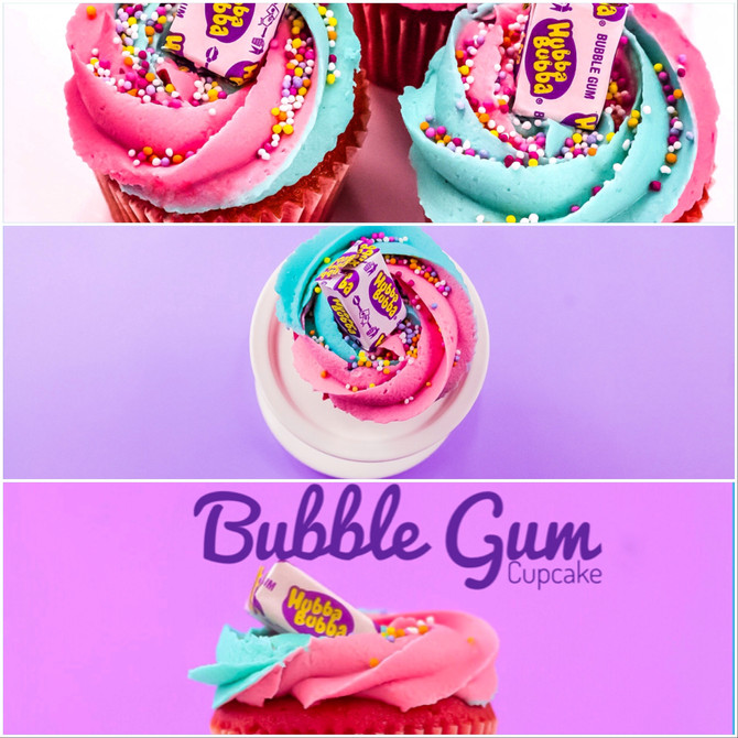 Our July *Best Seller* Bubblegum Cupcake