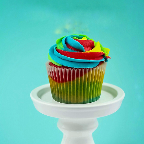Rainbow Tropical Punch Cupcakes-Box of 16