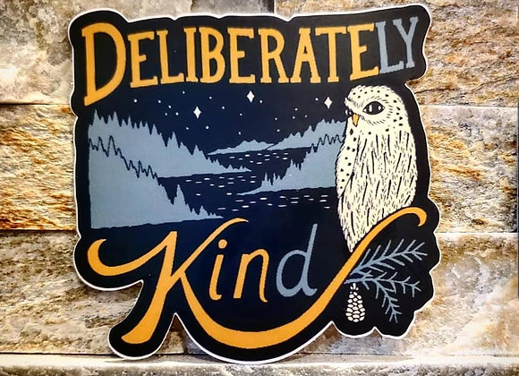 Deliberately Kind Die Cut Sticker