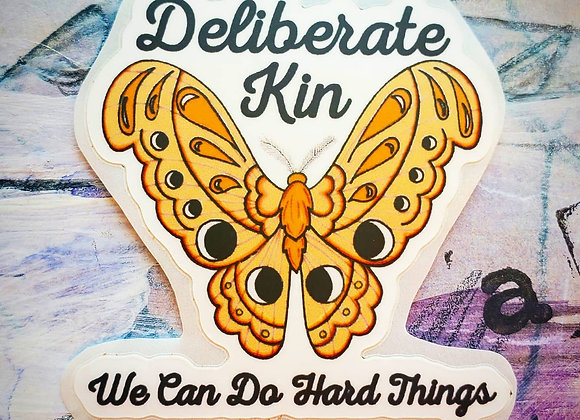 We Can Do Hard Things Moth Sticker