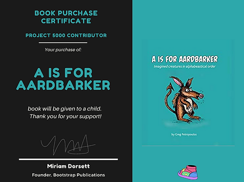 A is for Aardbarker By: Greg Petropoulos- Project 5000