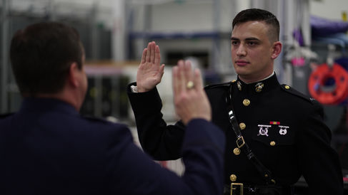 Swearing In a Young Engineer Into The Air Force Reserves