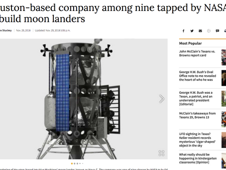 Houston-based company among nine tapped by NASA to build moon landers