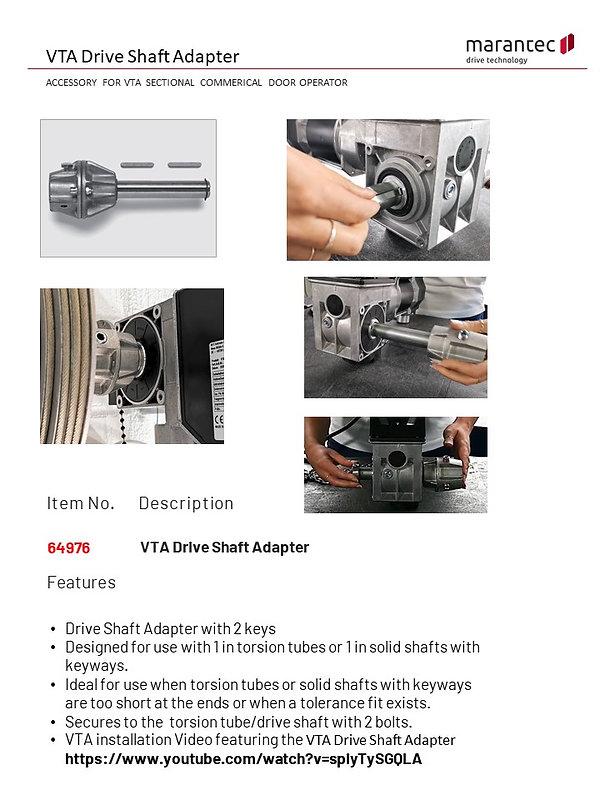 MAC Drive Shaft Sample Spec Sheet 01-05-