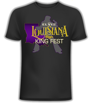 THE OFFICIAL LOUISIANA BAYOU KING FEST T-SHIRT