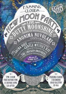 PASSING CLOUDS NEW MOON PARTY