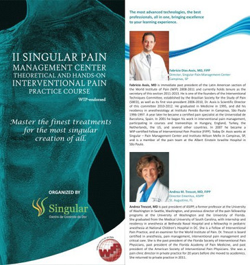 II Singular Pain Management Center Theoretical and Hands-On Interventional Pain Practice Course