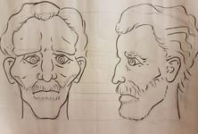 Van Gogh Head Design