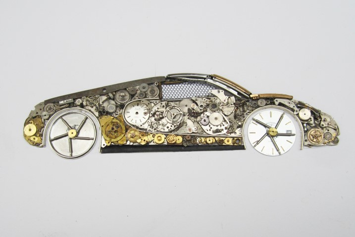 Stoptick art Bugatti car