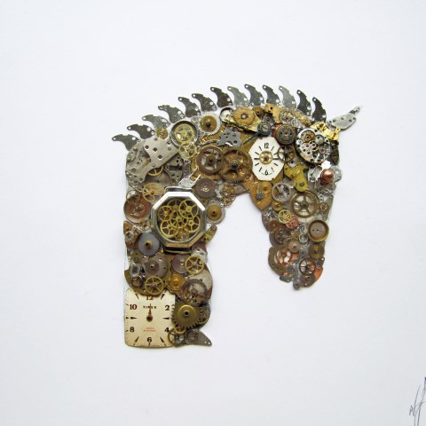 new works of art from neil and cazy arts art made from old watch parts