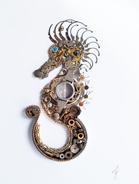 Stoptick art sea horse