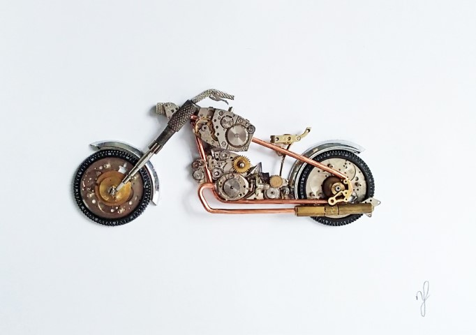 Stoptick art large motor bike