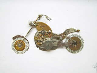 Art from old watch parts