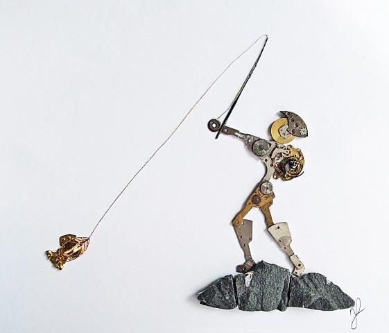 Stoptick art fisher man
