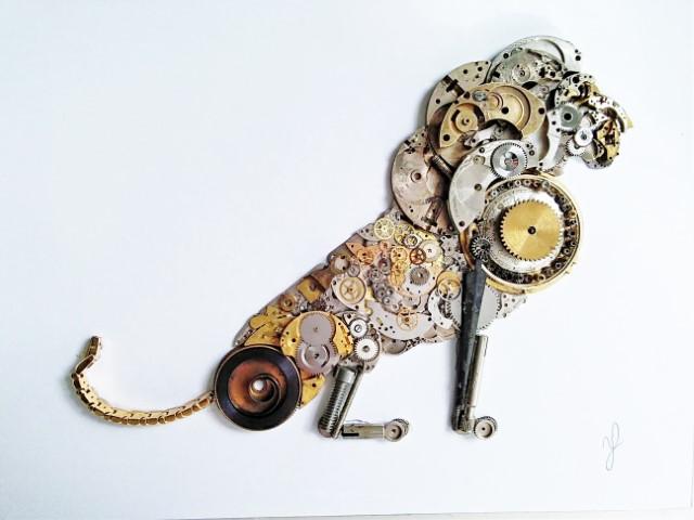 Stoptick art lion