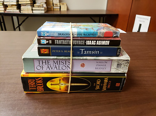 Sci fi fantasy  Terry Brooks Bradley Asimov Beagle
