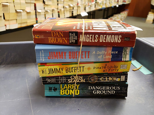 Dan Brown Jimmy Buffett CJ Box Larry bond