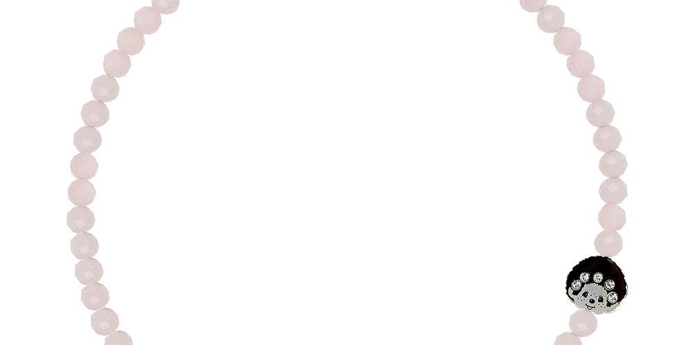 LOGOMANIA頸鏈(粉紅晶)