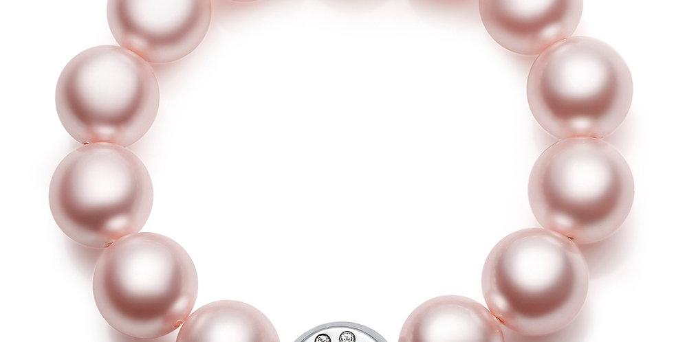 12MM珠手鏈(玫紅)