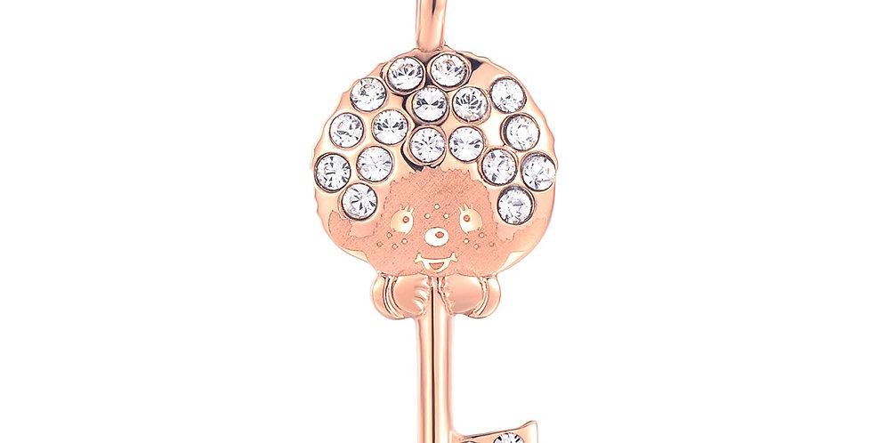 鎖愛鑰匙項鏈(玫瑰金)