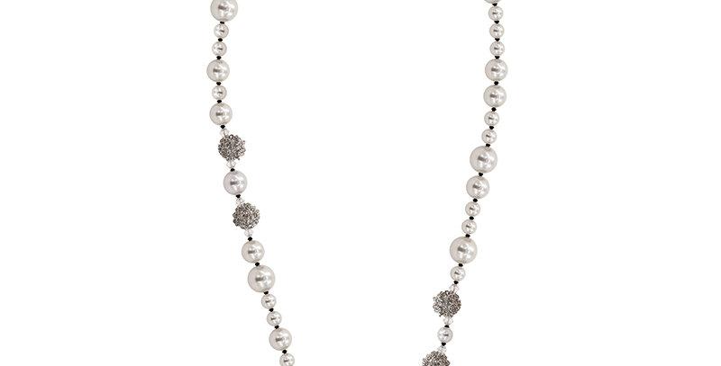 仿珍珠長項鏈(白)
